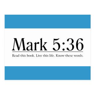 Read the Bible Mark 5:36 Postcard