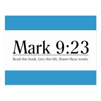 Read the Bible Mark 9:23 Postcard
