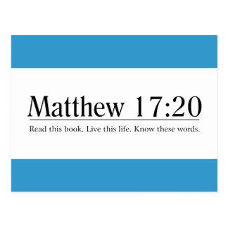 Read the Bible Matthew 17:20 Postcard