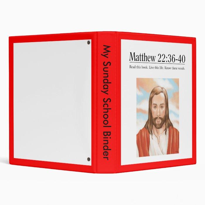 Read the Bible Matthew 22:36-40 3 Ring Binder