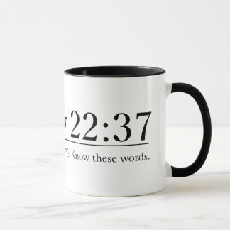 Read the Bible Matthew 22:37 Mug