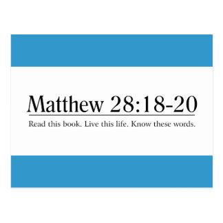 Read the Bible Matthew 28:18-20 Postcard