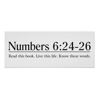 Read the Bible Numbers 6:24-26 Poster