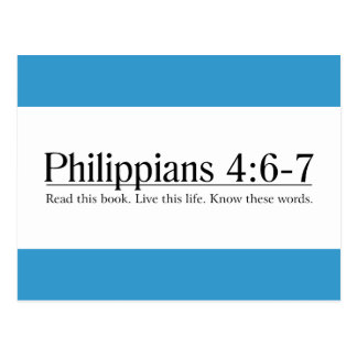 Read the Bible Philippians 4:6-7 Post Card