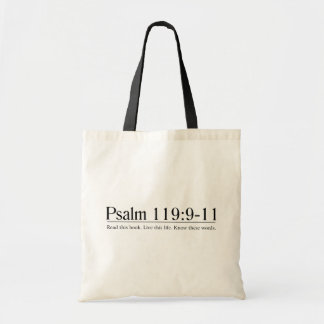 Read the Bible Psalm 119:9-11 Bags
