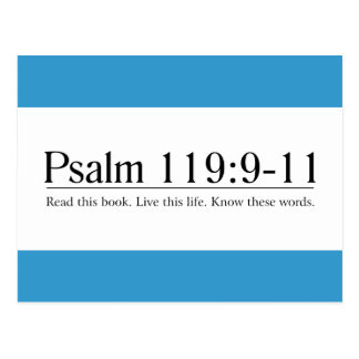 Read the Bible Psalm 119:9-11 Post Card