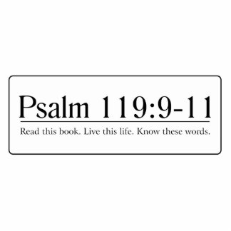 Read the Bible Psalm 119:9-11 Statuette