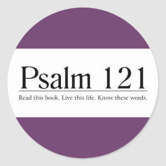 Read the Bible Psalm 121 Round Stickers