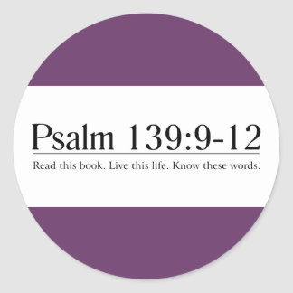Read the Bible Psalm 139:9-12 Sticker
