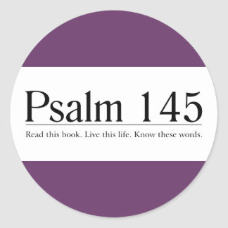 Read the Bible Psalm 145 Stickers
