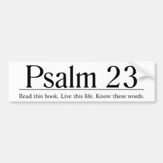 Read the Bible Psalm 23 Bumper Stickers