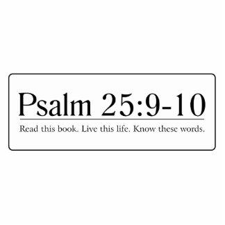Read the Bible Psalm 25:9-10 Cutout