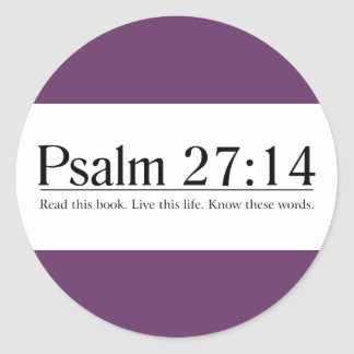 Read the Bible Psalm 27:14 Sticker