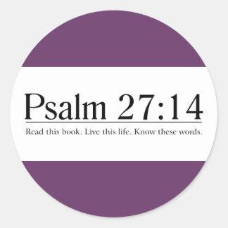 Read the Bible Psalm 27:14 Sticker
