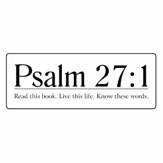 Read the Bible Psalm 27:1 Statuette