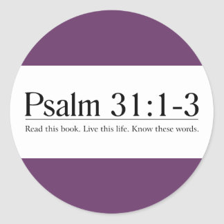 Read the Bible Psalm 31:1-3 Sticker