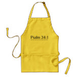 Read the Bible Psalm 34:1 Adult Apron