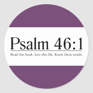 Read the Bible Psalm 46:1 Stickers