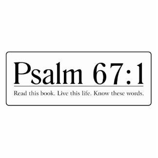 Read the Bible Psalm 67:1 Cutout