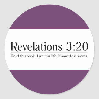 Read the Bible Revelations 3:20 Classic Round Sticker
