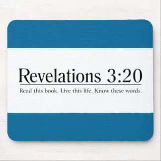 Read the Bible Revelations 3:20 Mouse Pad