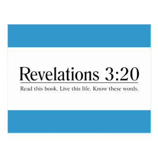 Read the Bible Revelations 3:20 Post Cards