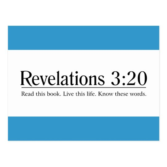 Read the Bible Revelations 3:20 Postcard