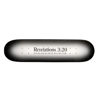 Read the Bible Revelations 3:20 Skateboard Deck