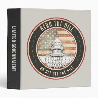 Read The Bill 3 Ring Binder