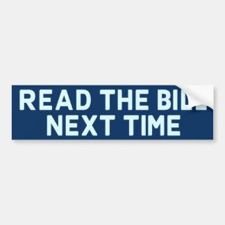 Read The Bill Bumper Sticker