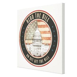 Read The Bill Canvas Print
