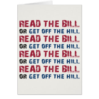 Read The Bill Greeting Cards