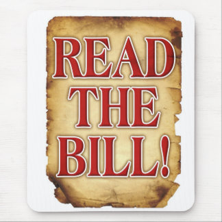 Read The Bill Mouse Pad
