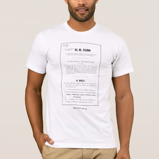 Read The Bill: No Death Panels - Support Govtrack T-Shirt