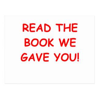 read the book postcard