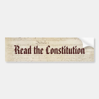 Read the Constitution Bumper Sticker