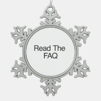Read The FAQ Ornament