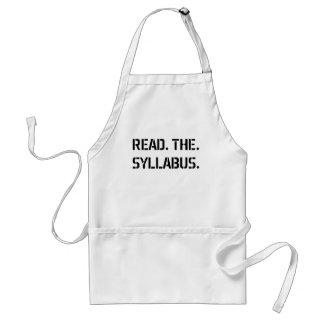 read the syllabus adult apron