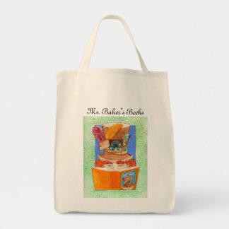 """READ"" The Teacher's Tote Grocery Tote Bag"