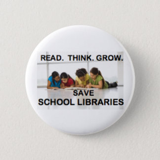 Read Think Grow - Fund School Libraries (reading) Button