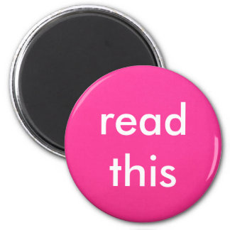 READ THIS MAGNET