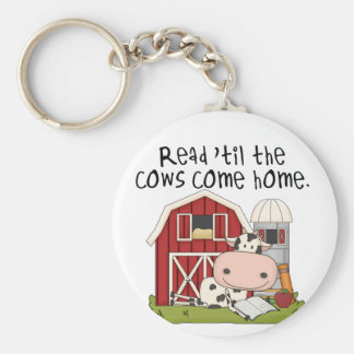 Read 'til The Cows Come Home Basic Round Button Keychain
