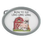 Read 'til The Cows Come Home Belt Buckle