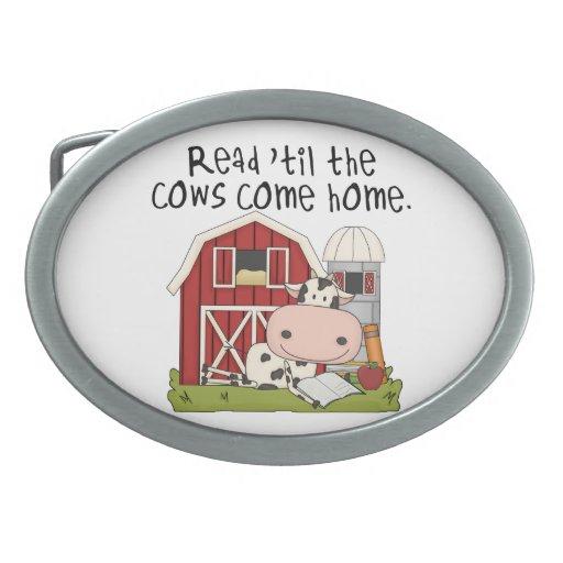 Read 'til The Cows Come Home Belt Buckle