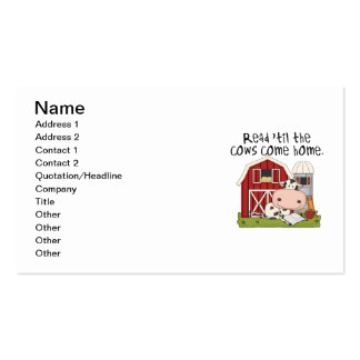 Read 'til The Cows Come Home Business Card