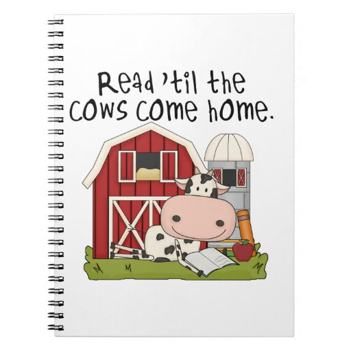 Read 'til The Cows Come Home Notebooks