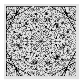 Read to Color Cathedral Mandala Poster