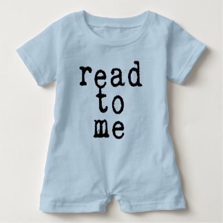 """read to me"" in Old Typewriter Font Baby Romper"