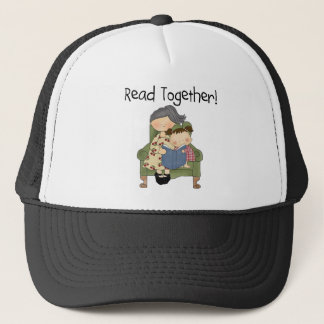 Read Together - Grandma and Girl Tshirts and Gifts Trucker Hat