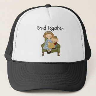 Read Together Mom and Boy Tshirts and Gifts Trucker Hat